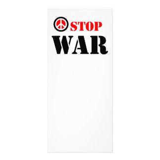 Pare o slogan da guerra 10.16 x 22.86cm panfleto