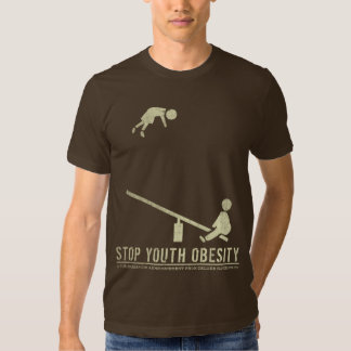 Pare o t-shirt da obesidade da juventude