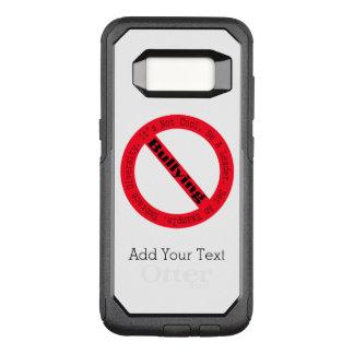 Pare o Tiranizar-Logotipo por Shirley Taylor Capa OtterBox Commuter Para Samsung Galaxy S8