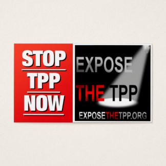 PARE os cartões de visitas de TPP