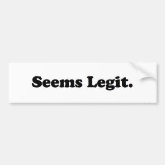 Parece o Legit. Adesivo Para Carro