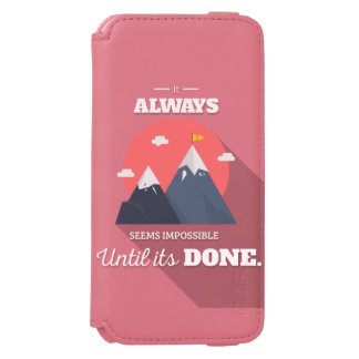 Parece sempre impossível até que faça capa carteira incipio watson™ para iPhone 6