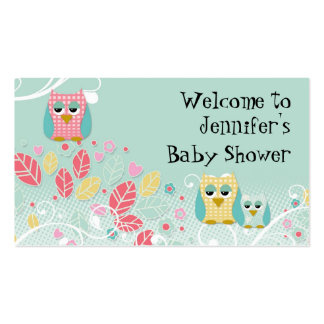 Parede bonito lunática do nome do bebê das corujas cartões de visitas