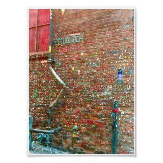 parede da goma impressão de foto