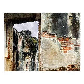Parede da igreja, La Antígua Guatemala Cartão Postal