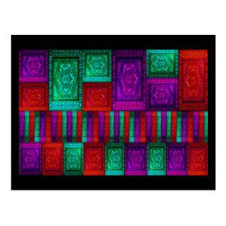 Parede de caixas do mosaico cartão postal