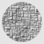 Parede de pedra adesivos redondos