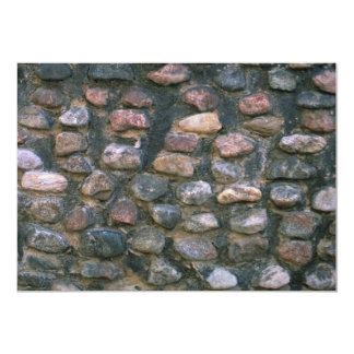 Parede de pedra da igreja convite 12.7 x 17.78cm