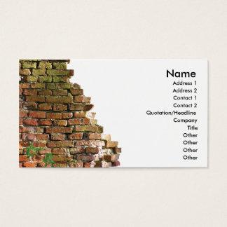 Parede de tijolo cartão de visitas