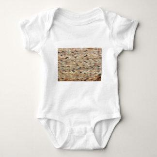 Parede de tijolo com diversas cores body para bebê