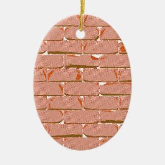 Parede de tijolo de intervalo mínimo ornamento de cerâmica