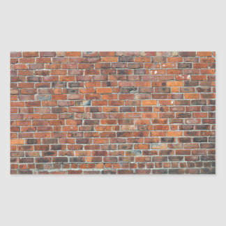 Parede de tijolo velha customizável adesivos retangular