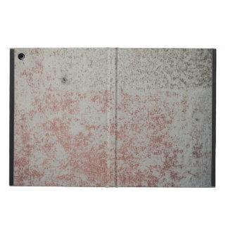 Parede do Grunge com a caixa vermelha do iPad da