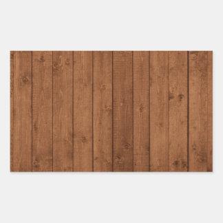 Parede feita de pranchas de madeira velhas - Brown Adesivo Em Formato Retângular