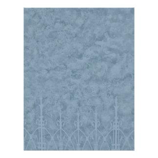 Parede gótico do cemitério no azul panfleto