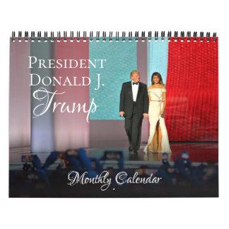 Parede mensal do calendário do presidente Donald