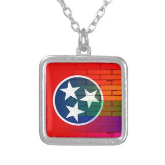 Parede Tennessee do arco-íris Colar Banhado A Prata