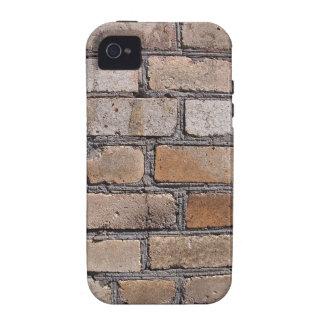 Parede velha dos tijolos cinzentos e marrons capinhas iPhone 4/4S