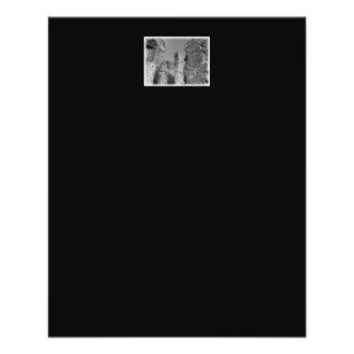 Paredes de pedra e céu velhos flyer 11.43 x 14.22cm