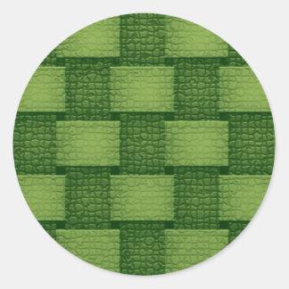 Paredes - esverdeados adesivo em formato redondo