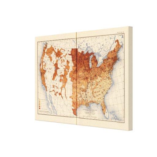 Parentesco estrangeiro de 75 brancos da proporção impressão em tela canvas