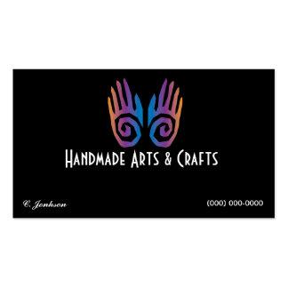 Pares de artes e de artesanatos do cartão de visit modelos cartão de visita