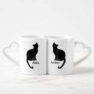 Pares de caneca do amor dos gatos
