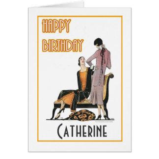 Pares de cartão de aniversário dos Flappers