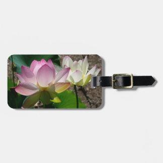 Pares de flores de Lotus mim Etiqueta De Bagagem