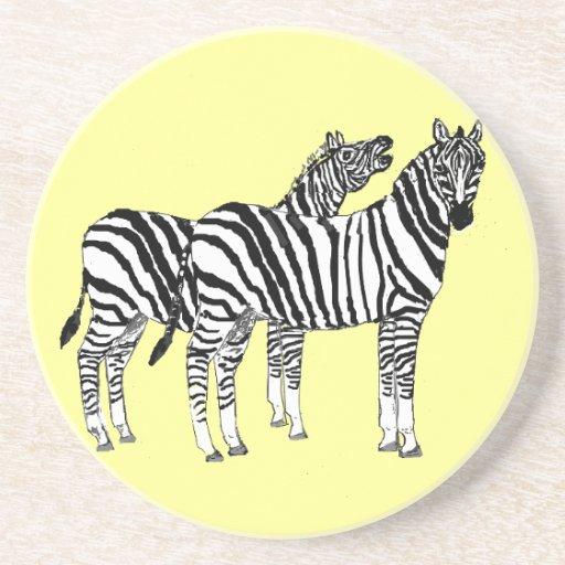 Pares de zebras em produtos múltiplos porta copo para bebidas