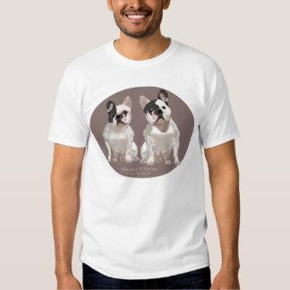 Pares do buldogue francês tshirts