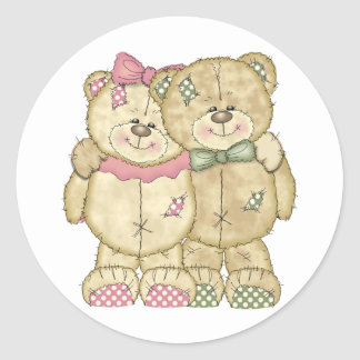 Pares do urso de ursinho - cores originais adesivo
