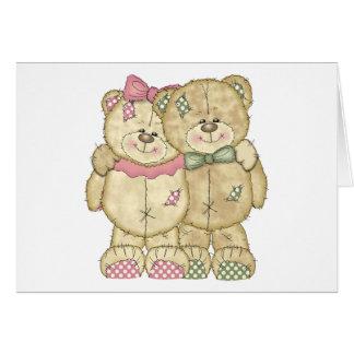 Pares do urso de ursinho - cores originais cartão comemorativo