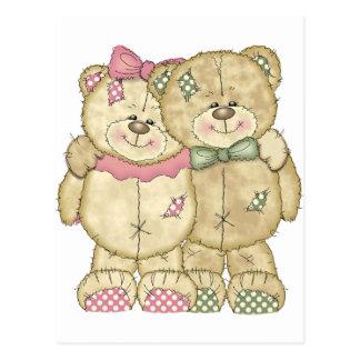 Pares do urso de ursinho - cores originais cartão postal