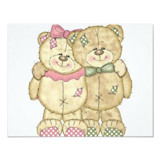Pares do urso de ursinho - cores originais convites personalizado