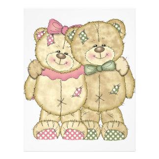 Pares do urso de ursinho - cores originais papel timbrado