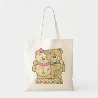 Pares do urso de ursinho - cores originais sacola tote budget