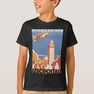 Paridade Avion Aeropostale de Maroc do Au, vintage Camiseta