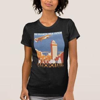 Paridade Avion Aeropostale de Maroc do Au, vintage Camisetas