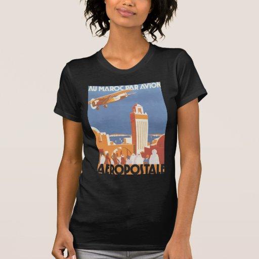 Paridade Avion Aeropostale de Maroc do Au, vintage Tshirt