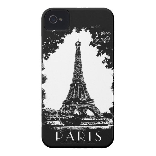 Paris, a torre Eiffel - exemplo da case mate Capa Para iPhone