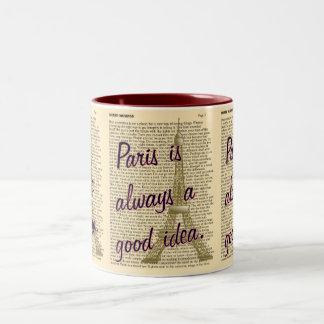 Paris -- Boa ideia -- caneca de café