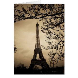 Paris Cartão Comemorativo