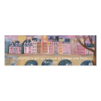 Paris… Cartão De Visita Skinny