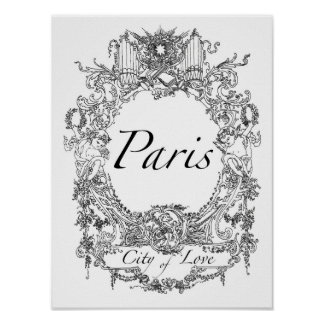 Paris: Cidade da ilustração da arte do poster do