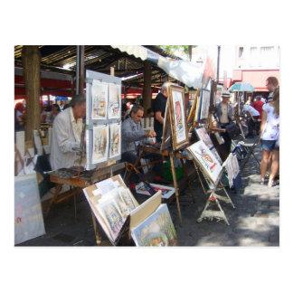 Paris - coloca do Tertre-Montmartre - Cartão Postal
