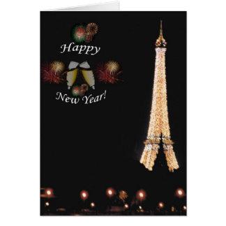 Paris: Dando boas-vindas ao ano novo Cartão