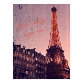 Paris é sempre uma boa ideia - cartão retro