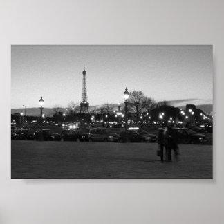 Paris em a noite pôster