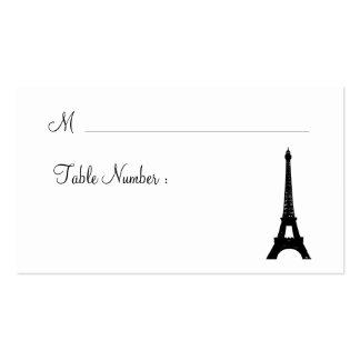 Paris em cartões do lugar da noite cartao de visita